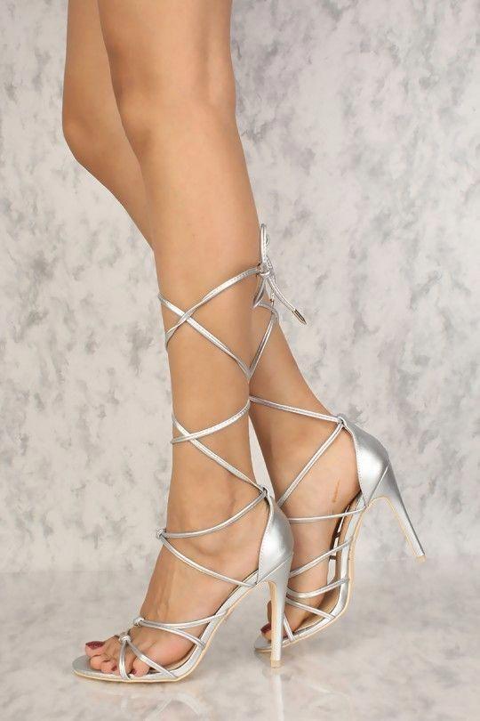 Pin on Open toe high heels