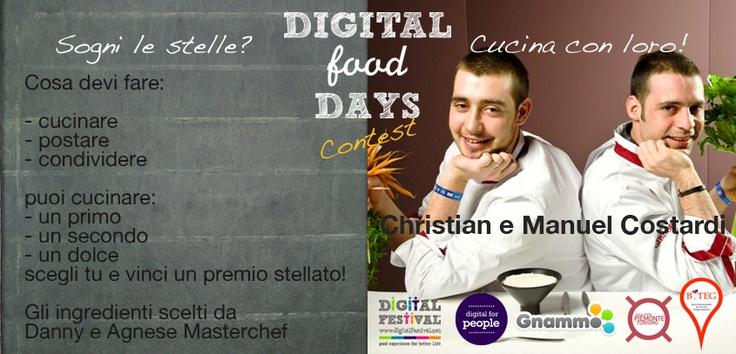 Volete cucinare con degli Chef Stellati e passare un week-end in Piemonte? Questo è il premo del nostro contest stellato. Ci mettiamo ai fornelli? :)  http://blog.gnammo.com/digital-food-days-contest-stellati/