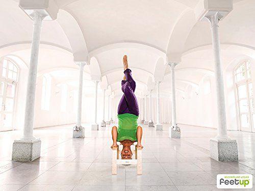 FeetUp® Original Kopfstandhocker, Kopfstand-Yogastuhl – einfach ins Kopfüber!  Entspanntes Verweilen im Kopfstand mit Genuss : Hals, Nacken und Wirbelsäule werden entlastet