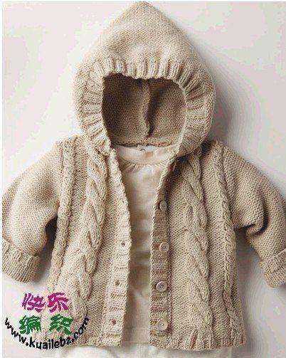 Вяжем курточку с капюшоном для малыша