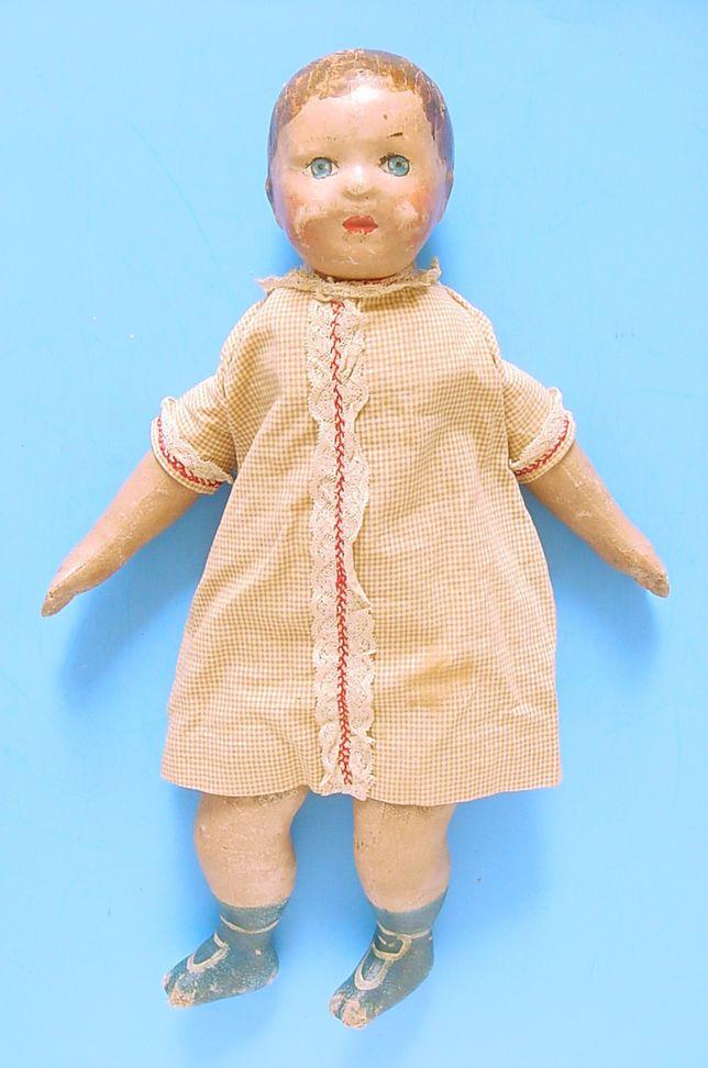 "1900s ELLA SMITH ALABAMA INDESTRUCTIBLE DOLL CO. 19"" CHILD DOLL"