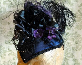 Midnight Masquerade Victorian Headpiece