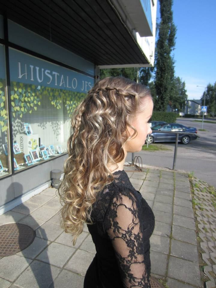 #curlyhair #curly #wedding #guest #longhair #hairdo