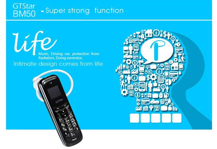 GTStar BM50 8851A Single SIM Bluetooth Headphone Mini Cellphone