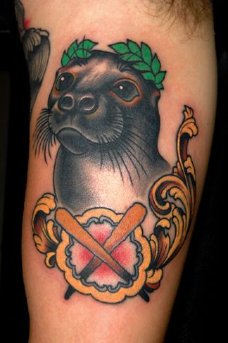 tattoo old school / traditional nautic ink - seal