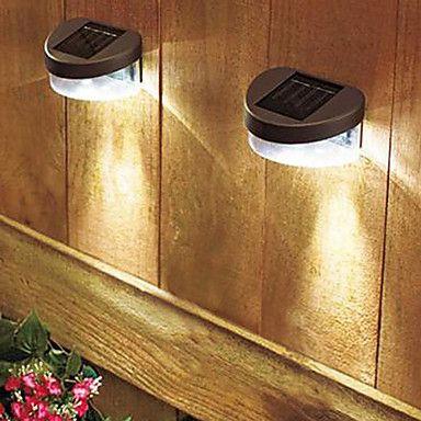 Modern Rechargeable LED Solar Wall Light Garden Wall Lights – USD $ 26.11