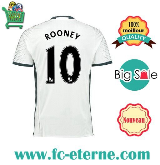 Site Maillot Foot Manchester United (ROONEY 10) 2016-2017 Third |fc-eterne
