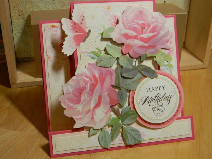 Birthday card using all Anna Griffin, Inc. products.
