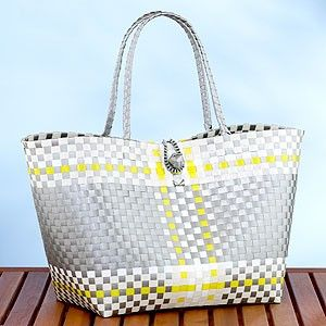 Yellow And Gray Bag Would Go Beautifully With A Cambridge Raincoat Beach Totesbeach Bagswoven