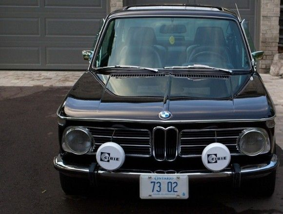 1973 BMW 2002tii Black For Sale Front