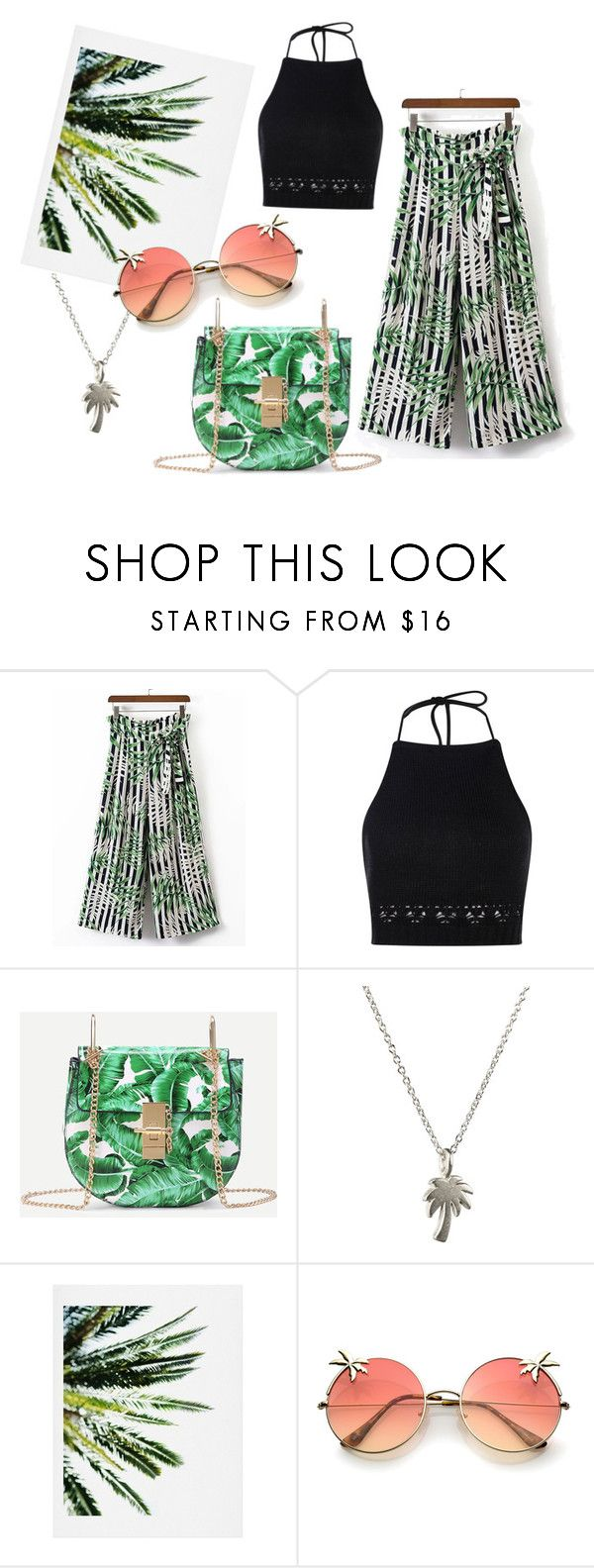 Palm tree inspired by patsilvarte-blog on Polyvore featuring Boohoo, Dogeared and DENY Designs  #summer #palmtree #ootd #outfit