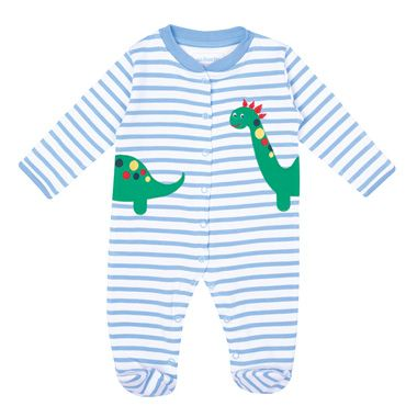 Dino Appliqué Baby Sleepsuit, Baby Sleepsuits and Bodies, Baby Clothes