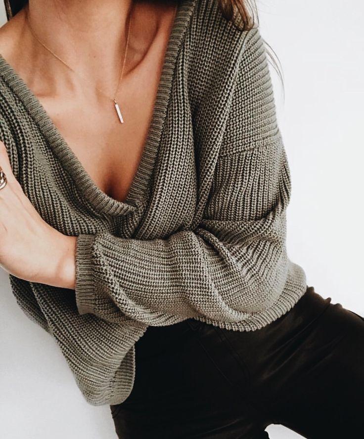 v-neck knits