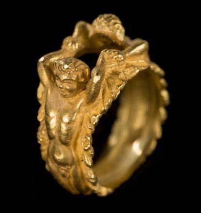 Italian gold ring for men and women