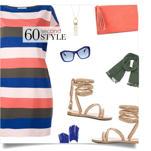 60-Second Style: The T-Shirt Dress by loloksage on Polyvore featuring YMC, Jessica McClintock, Loewe, Chanel, tshirtdresses and 60secondstyle
