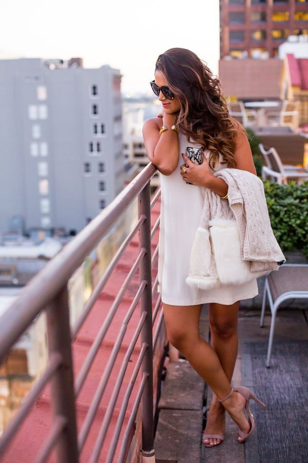winter white dress, haute off the rack, ankle strap heels, what to do in New Orleans, New Orleans guide, international house hotel, New Orleans blogger, women's fashion,