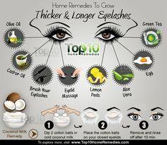 Dickere und Längere Wimpern