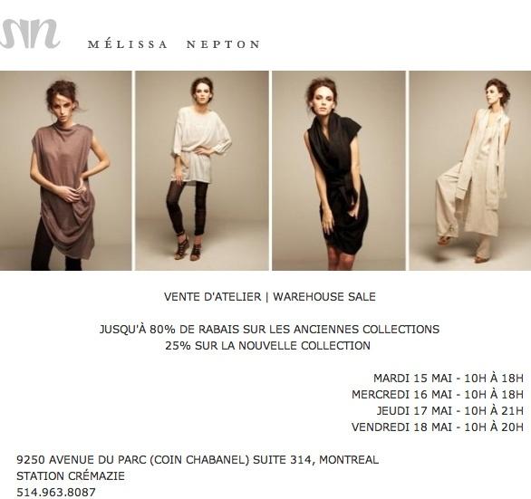 Warehouse sale - Montreal