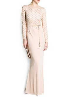 MANGO - CLOTHING - Dresses - Maxis - Lurex polka-dot gown