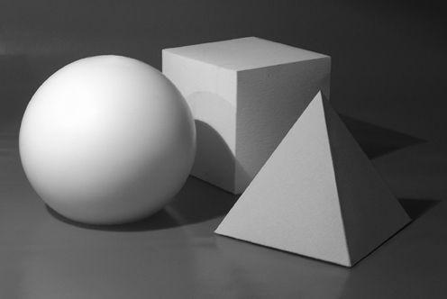 solidi composizione bianco/nero