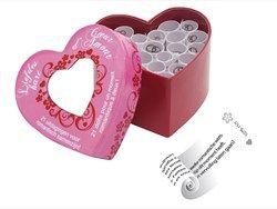 Liefdeshart, een uniek spel met 21 uitdagingen om jullie romantische samenzijn een extra boost te geven. Dit liefdevolle hartje bevat 21 kaartjes met diverse romantische uitdagingen. Pak allebei een kaartje, vervul elkaars wensen en kom erachter wat je partner nou echt fijn vind. Liefdeshart is een leuke verrassing voor je partner, maar ook zeker leuk om cadeau te doen aan iemand! #Moodzz #toys #erotiek #intimiteit #spelletjes #vibrator #goed #sexy #goed #stout #willieshop #sexshop…