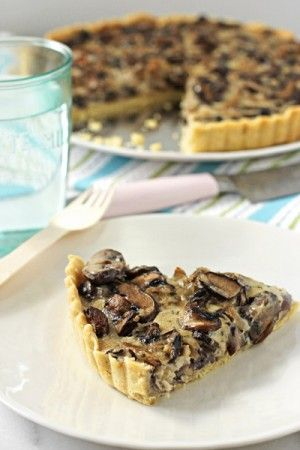 Wild mushroom tart *optional change provolone/fontina for gruyere then parmesan/romano