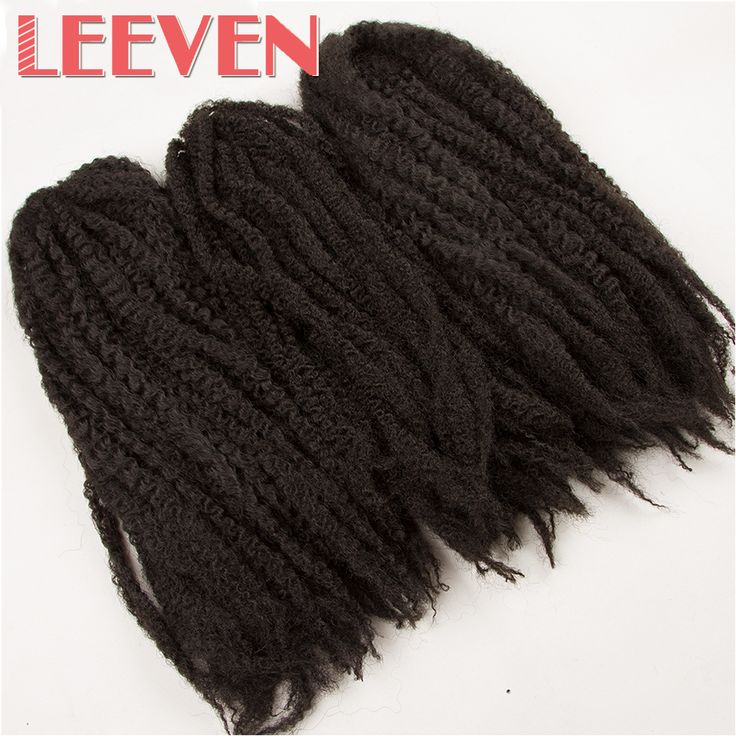 Leeven 18''Afro Kinky Twist Hair Crochet Marley Braid For DIY Dreadlocks Synthetic Ombre Braiding Hair High Temperature Fiber