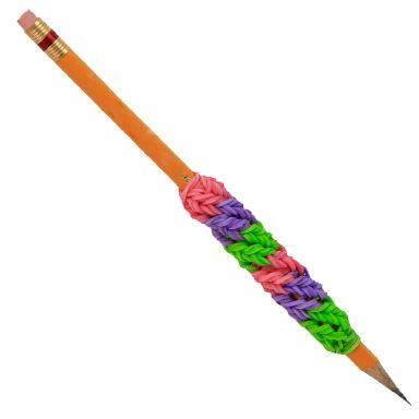Tejido de ligas de colores para Lápiz / Ideal para los útiles escolares de los niños