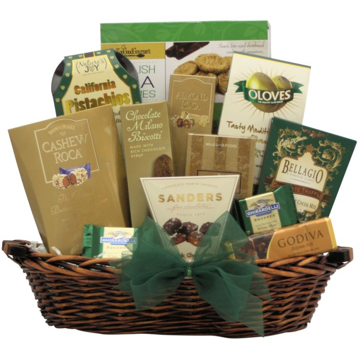 Gourmet Kosher Medium Kosher Gift Basket, Brown