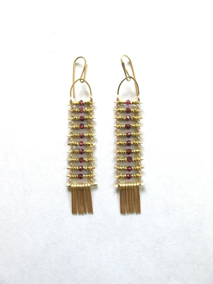 Demimonde Pink Garnet Earrings>> i love these in a completely irrational way @Amanda Gaddis Studio and Shop