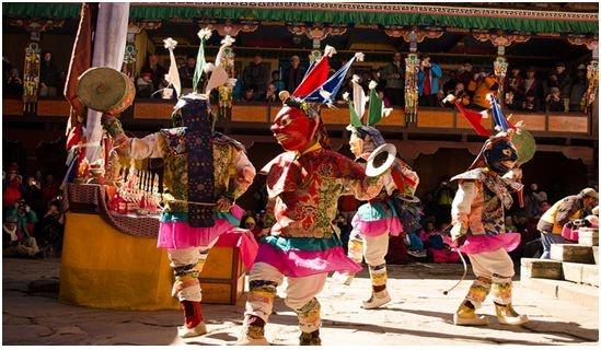 Masked Dance during Mani Rumdi