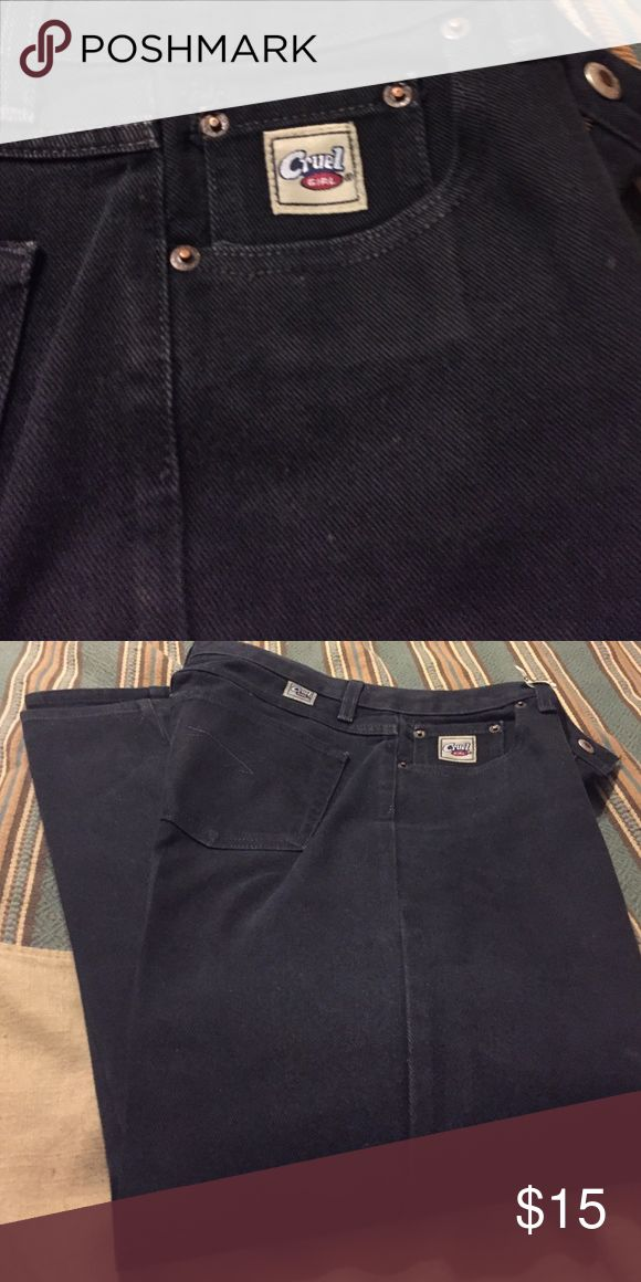 Black starched cruel girl jeans Cowgirls jeans, 9R Cruel girl Jeans Boot Cut