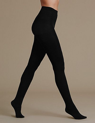 2 Pair Pack 80 Denier Supersoft Opaque Tights