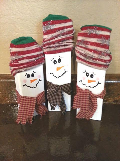 Wooden Snowmen All Things Christmas Pinterest Wooden