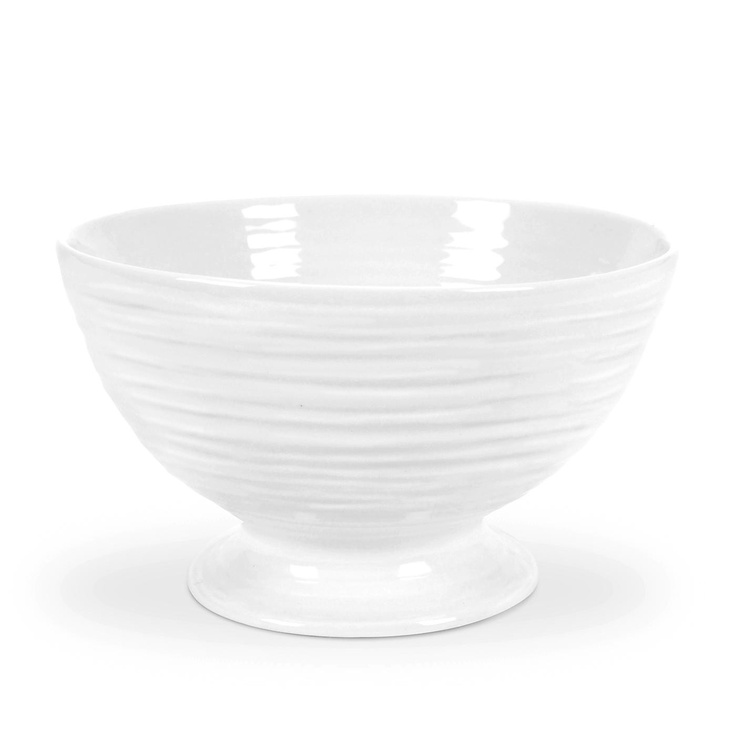 Sophie Conran White Small Footed Bowl. 14 x 8.5cm (5.5 x 3.25 inch) The Small Footed Bowl is perfect for serving soups, stews and noodles at relaxed lunches or at dinner parties. Product Code: CPW76847 Call 905·885·9250.