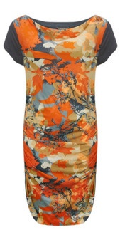 Sandwich Clothing Short Sleeve Spring Flower Print Dress (Mandarin) at Gemini Woman