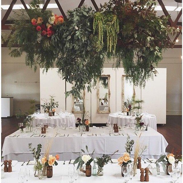 Gorgeous Autumn florals by @popandscott from this weekend's wedding #abbotsfordconvent #bursaria #popandscott #autumn #hangingflorals