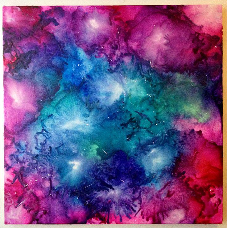 crayon art galaxy