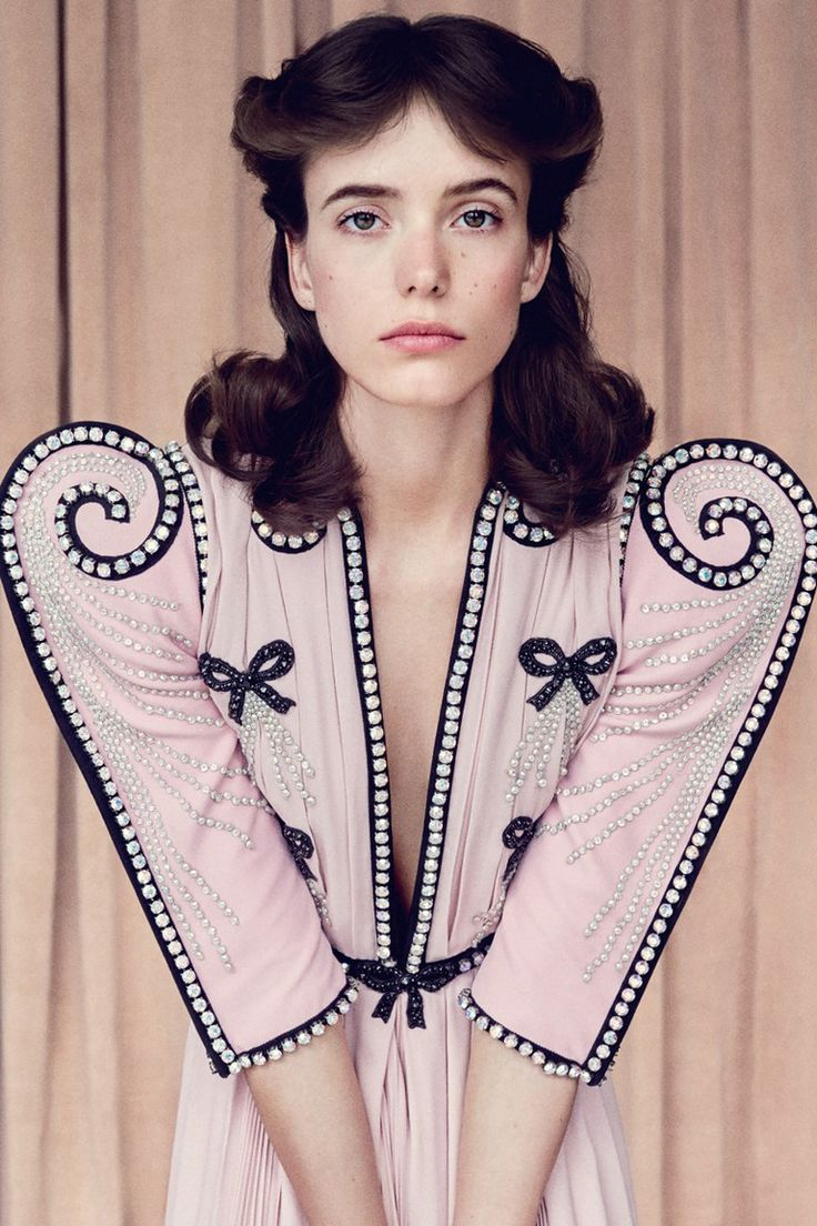 'Role call' Stacy Martin by Patrick Demarchelier for British Vogue December 2017.