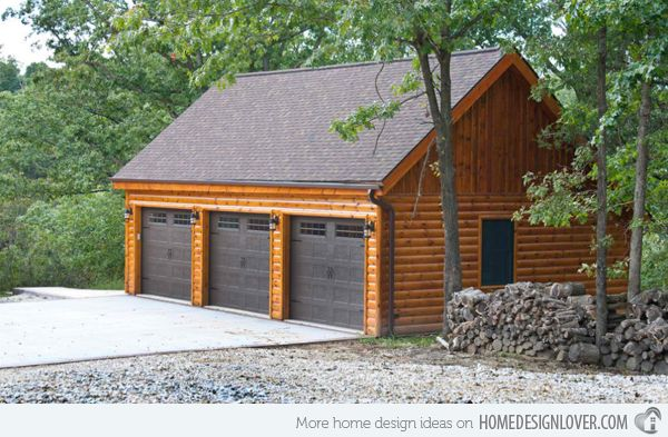 This detached garage that sits far back from the house is simply beautiful.