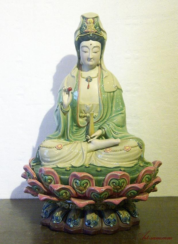 14 Masterpiece Chinese Ceramic / Porcelain Guan Yin Figurine St : Art-sam.com