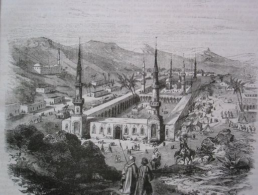 The Prophet's Mosque during the Ottoman period.
