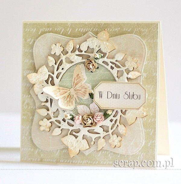 wedding card  http://www.hurt.scrap.com.pl/okragla-ramka-roslinna-11cm.html http://www.hurt.scrap.com.pl/pojedynczy-stempel-gumowy-monarch-maly.html