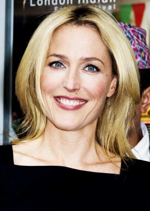 Gillian Anderson attends the opening film 'Sold' for The London Indian Film Festival (July 10).