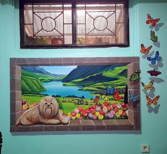 31 Lukisan Kolam Ikan 3d Di 2020 Lukisan Dinding Mural Seni