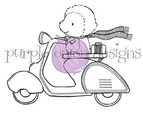 Stacey Yacula Studio - Cruiser (Hedghog on Vespa/Moped) - purpleoniondesigns