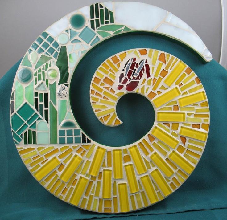WIZARD OF OZ . Yellow Brick Road mosaic art . etsy.com
