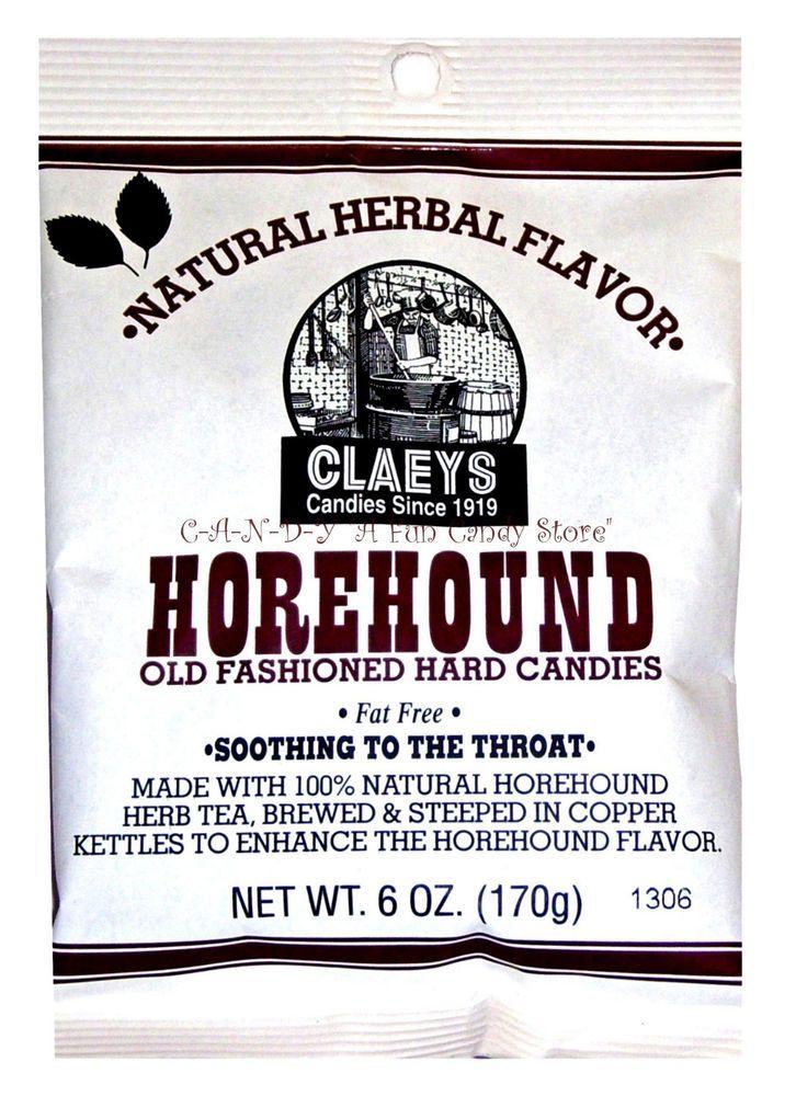 HOREHOUND CANDIES - OLD FASHIONED HARD CANDY DROPS - 6oz bag - Nostalgic Sweets #OldFashionedHorehoundDrops