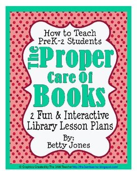Two unique and fun library lesson plans designed to teach elementary students how to properly take care of books