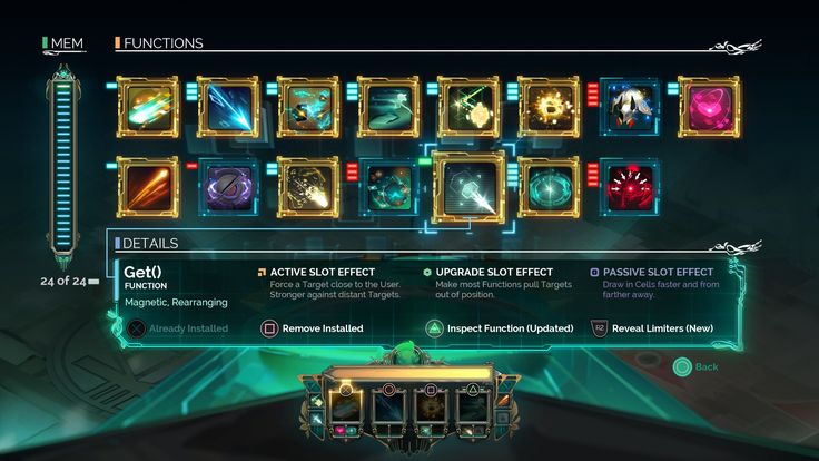 Transistor game  | Skills | Abilities | #ui #interface #scifi #transistor #game